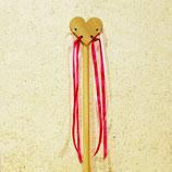 Baguettes magique coeur avec rubans