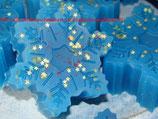 MP Seifenschneeflocken mit goldenen Sternen - Winterwunderland Saisonal ab September