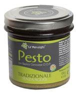 Pesto Genovese Tradizionale - klassisches, sehr aromatisches Basilikum Pesto ohne Knoblauch 130 g