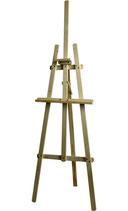 Expositie-ezel hout.  Wooden exhibition easel