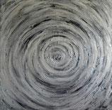 Silver Swirl, 100 x 100 cm