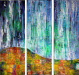 Troubled Skies, 3 x 40 x 120cm