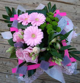 Bouquet bulle rond rose