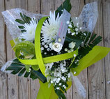 Bouquet bulle rond blanc