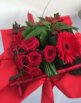 Bouquet bulle rond rouge