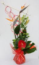 Bouquet bulle hauteur rouge