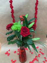 Bouquet LONGUE TIGES et son vase
