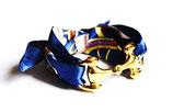 Bracelet foulard bleu et mors amovible
