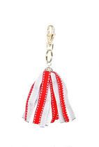 Porte-clés Froufrou rouge et gris