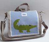 Kindergartentasche bzw. Umhängetasche Krokodil Theo