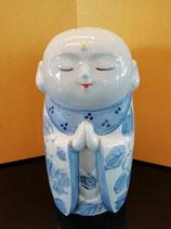 No.9 お地蔵様 染付山茶花(4.5号)