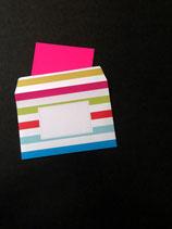 Regenbogenstreifen-Kuverts • 10er-Pack
