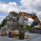 Geschäftsgebäude Relief Abbruch