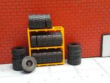 Reifenregal mit Reifen