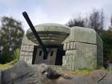 Bunker mit Geschütz