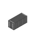 Materialcontainer ohne Seitentür 20ft