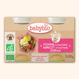 BABYBIO ABRICOTS CEREALES 2x130gr