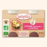 BABYBIO POMME / MYRTILLE 2x130gr