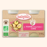 BABYBIO POMME / COING 2x130gr