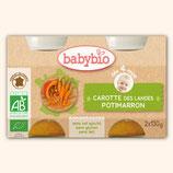 BABYBIO CAROTTE / POTIMARRON 2x130gr