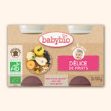 BABYBIO DELICES FRUITS 2x130gr