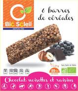 BARRE CHOCOLAT NOISETTE RAISIN (x6) 125gr