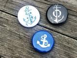 BS-009 maritimes Buttons Set Anker Anchor Sailor Schiff Ahoi Segeln Geschenk