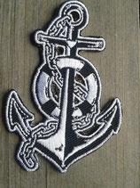 AN-001 Anker Anchor Glaube Liebe Hoffnung maritimer Patch Aufnäher Segeln Rockabilly