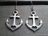 OR-016 Anker Anchor Retro Glaube Liebe Hoffnung Ohrringe maritim Rockabilly
