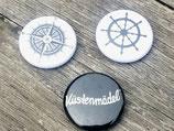 BS-007 maritimes Buttons Set Steuerrad Ruder Kompass Küstenmädel