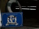 PK-004 Küstenmädel Ahoi Postkarte Seglerin Segeln Mast und Schotbruch Hello Sailor