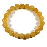 Bracelet élastique calcite orange