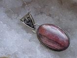 Pendentif Rhodocrosite en argent 925