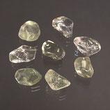 Petite pierre roulée de prasiolite extra