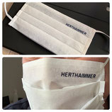 Maske mit Herthaimmer-Logo im Doppelpack