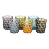 Tumbler Blocks Multicolor Set of 6