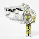 Crumpled City Map, Barcelona
