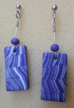 orecchini marmorizzati viola