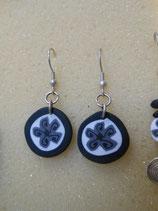 orecchini murrina fiore nero