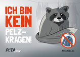 Aufkleber -Pelz – Ich möchte in Freiheit leben!