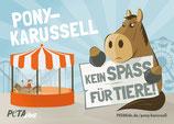 Aufkleber -Ponykarussell – kein Spaß für Tiere!