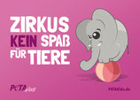 Aufkleber -Zirkus – kein Spaß für Tiere!