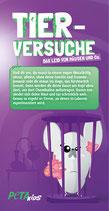 Flyer - Die Wahrheit über Tierversuche