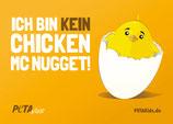 Aufkleber - ich bin kein Chicken Mc Nugget!