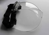 Protective visors optical class 1 with anti-scratch anti-fog coating (unit price for a total of 1-9 pieces)