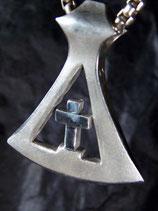 Kreuz Axt Silber