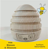 """Propolisverdampfer """"Breathe"""" - Bienenkorb aus Holz mit Powerbank"""