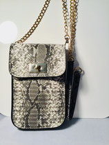 Snake Gray Crossbody Purse Clear Cell Phone Pocket