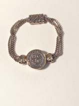 Medal Bracelet with Magnetic Closure