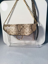 Snake Skin Brown Purse